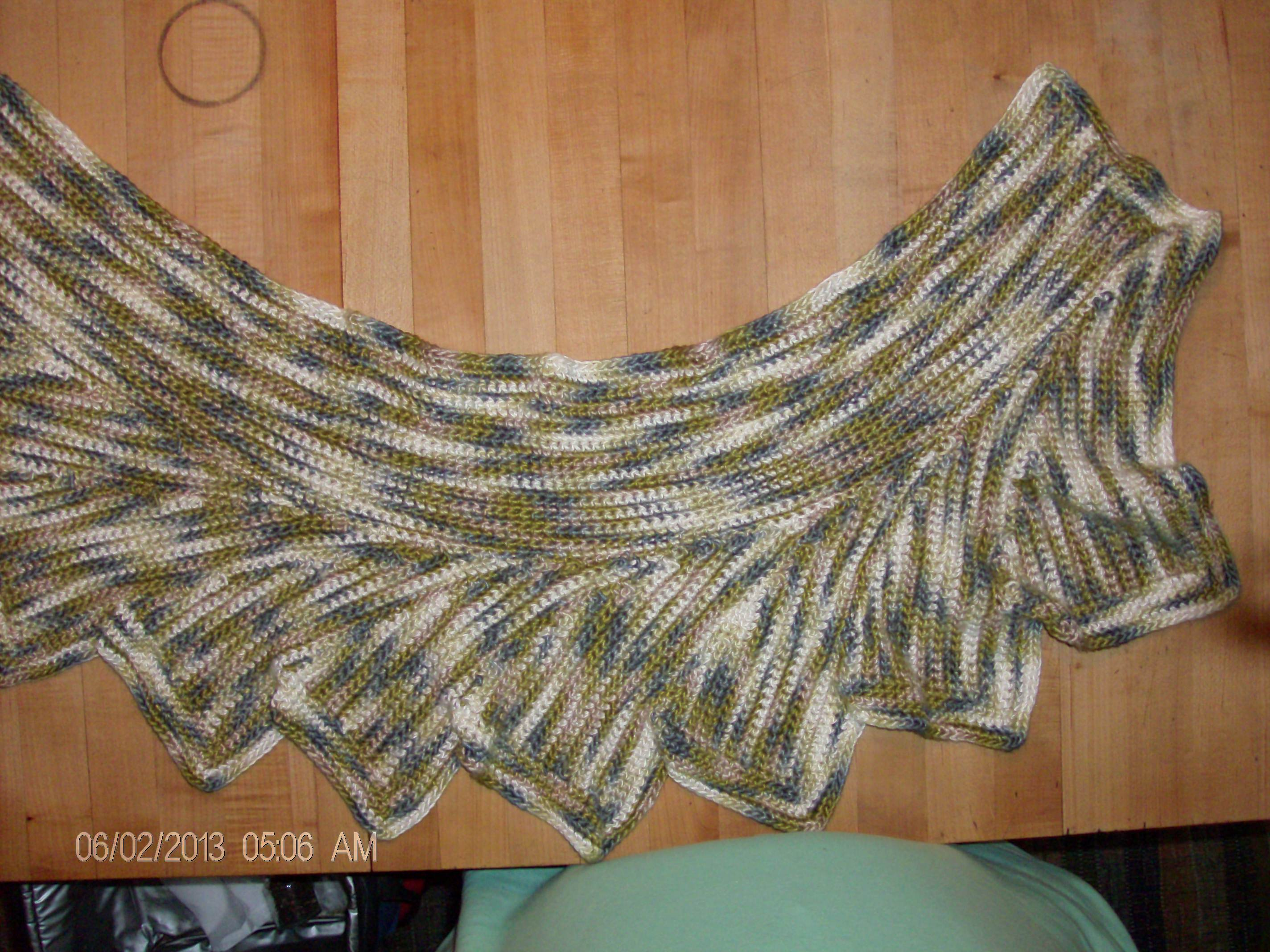 The Wingspan shawl Inquisitive Felines and Fibers