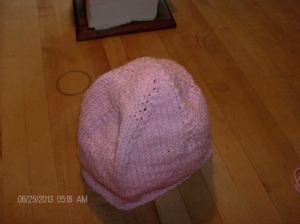 pink hat circular cast-on 001
