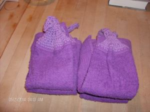 purple dish towels 001